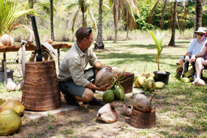 Carl talking Coconuts