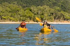 sea kayaking off the port douglas coast