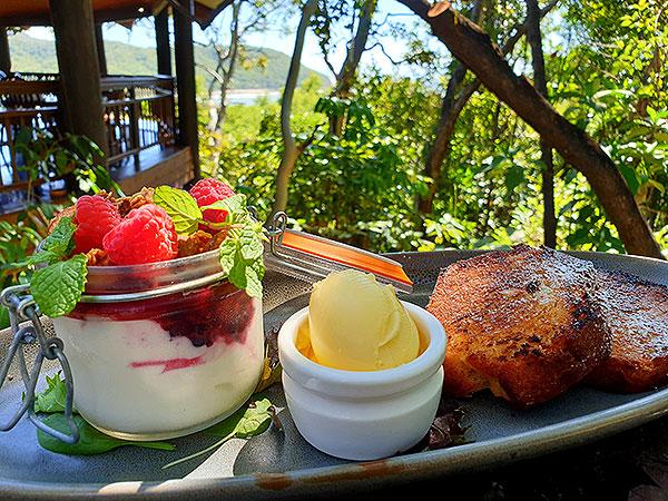 Banana Bread Breakfast at Ospreys Restaurant Port Douglas