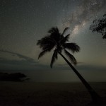 Starry night on Oak Beach, Thala's private access beach