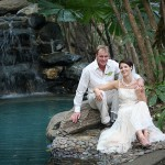 Rainforest Pool Wedding