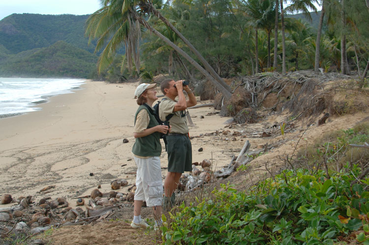22 - Escorted birdwatching for guests at Thala Beach Nature Reserve