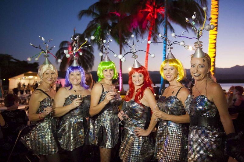 Carnivale partygoers